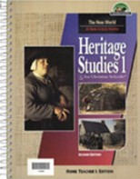 Heritage Studies 1 Home Teacher's Edition (2nd ed.)