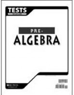 Pre-Algebra Tests (for one student) (grade 8)