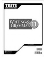 Writing/Grammar 11 Tests (tests only; for 1 student)