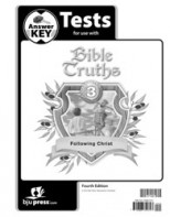 Bible Truths 3 Tests Answer Key (4th ed.)