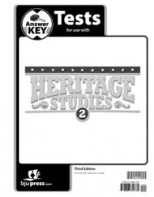 Heritage Studies 2 Tests Answer Key (3rd ed.)